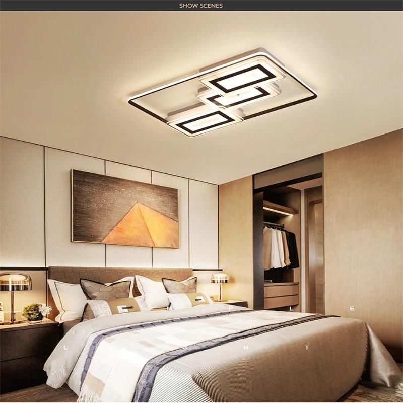Pendant Light Square Ultra Thin Modern Bedroom Lighting Fixtures Ceiling Lamp Indoor Lighting Rc Dimmable Pendant Light Pendant Lights Aliexpress