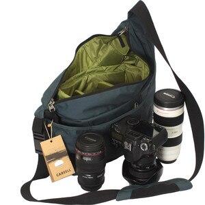 Image 4 - CAREELL C2028 고품질 배낭 트롤리 가방 한 어깨 배낭 카메라 비디오 사진 가방에 대 한 어깨를 가로 질러 기울여
