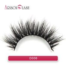 D006 100% Handmade Real Mink Fur False Eyelash 3D Strip Mink Lashes Thick Fake Faux eyelashes Makeup Beauty Free Shipping