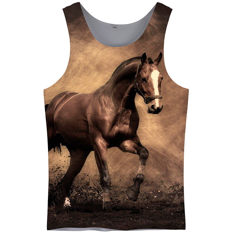 Cloudstyle 3D Print   Tank     Tops   Men Clothes 2018 Vest Horse Sleeveless Fitness Clothing Casual Vacation   Tops   Plus Size 5XL