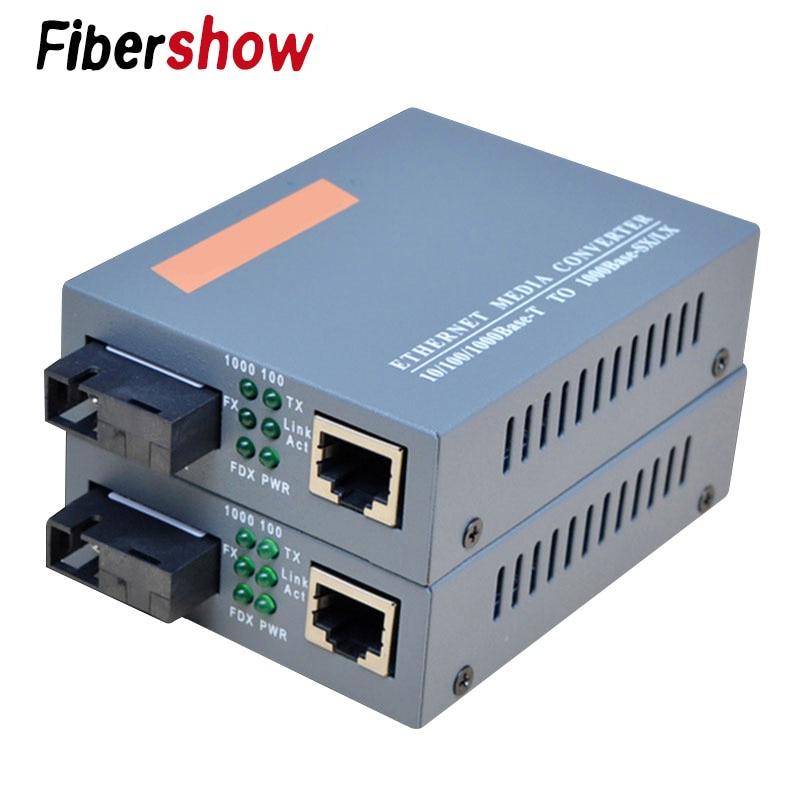 Gigabit Fiber Optical Media Converter HTB-GS-03 1000Mbps Single Mode Single Fiber SC Port External Power Supply