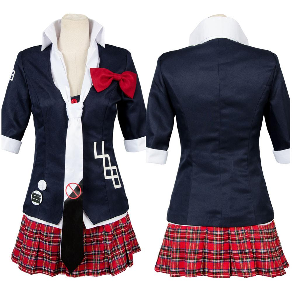Anime Dangan-Ronpa Danganronpa Junko Enoshima Cosplay Costume Uniform Girls Top Shirt Skirt Halloween Cosplay Costumes
