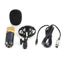 цена на BM 700 Professional Studio Broadcasting & Recording Microphone Set Foam Cap Singing Vocal Recording With Shock Mount Pk BM 800