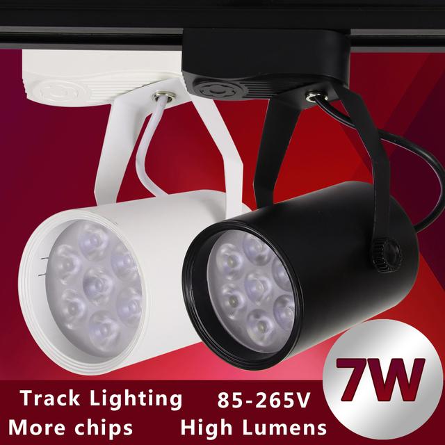 1 pcs Preto Branco Levou Faixa de Luz 7 W 110 V Iluminação Comercial Renovação Conduziu a Lâmpada Do Teto Local Loja de Roupas 7 W 85-265 V