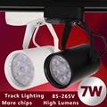 1pcs Black White Led Track Light 7W 110V Commercial Lighting Renovation Led Ceiling Spot Lamp Clothing Store 7W 85-265V