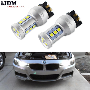 Image 1 - Bombillas LED de xenón para coche, luz blanca Canbus PWY24W PW24W para Audi A3, A4, A5, Q3, VW, MK7, Golf, CC, luces intermitentes delanteras para BMW F30, Serie 3, DRL