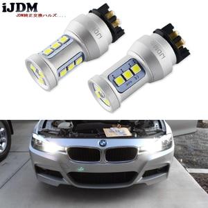 Image 1 - زينون الأبيض Canbus PWY24W PW24W LED لمبات لأودي A3 A4 A5 Q3 VW MK7 جولف CC الجبهة بدوره أضواء الإشارة لسيارات BMW F30 3 سلسلة DRL
