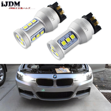 קסנון לבן Canbus PWY24W PW24W LED נורות לאאודי A3 A4 A5 Q3 פולקסווגן MK7 גולף CC שפתוחה להפוך אות אורות עבור BMW F30 3 סדרת DRL