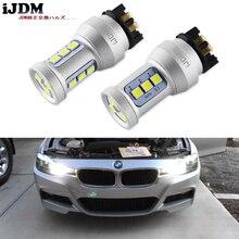 Signal lumineux avant, pour Audi A3 A4 A5 Q3 VW MK7 Golf CC, Canbus blanc, PWY24W PW24W ampoule LED, pour BMW F30 série 3, DRL