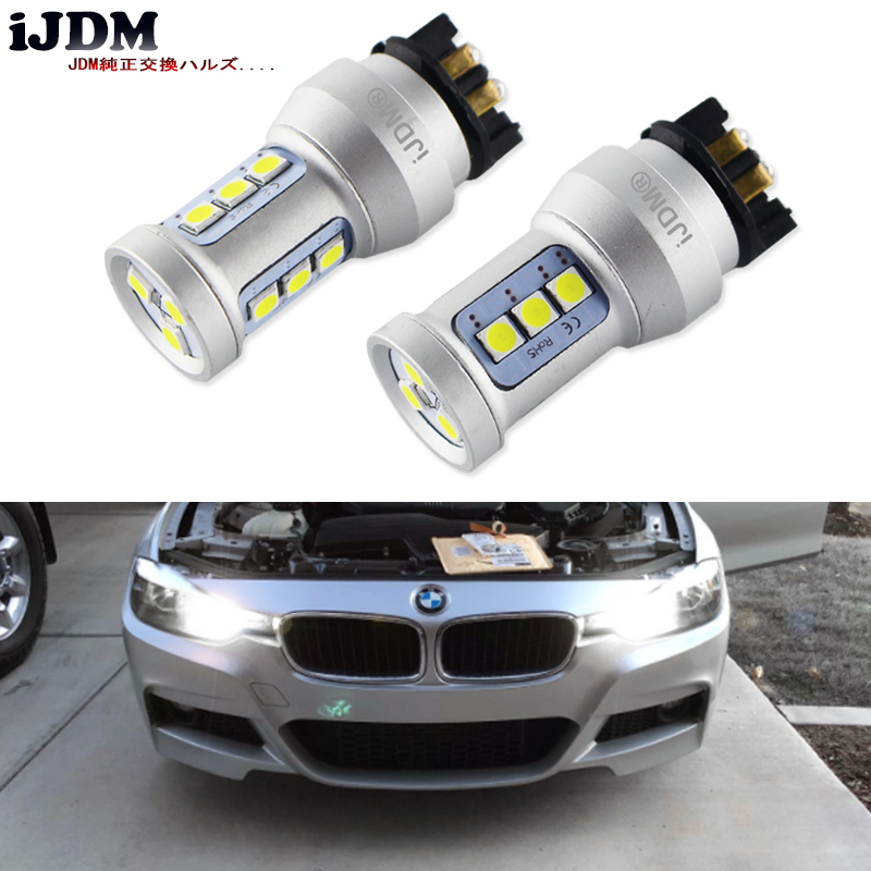 Xenon White Canbus PWY24W PW24W LED Bulbs For Audi A3 A4 A5 Q3 VW MK7 Golf CC Front Turn Signal Lights For BMW F30 3 Series DRL