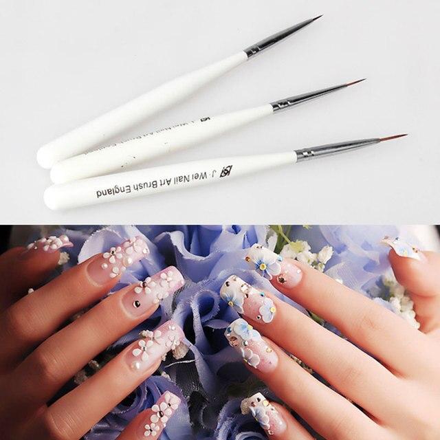 3pcs Line Scanning Nail Design Brushes Acrylic Nail Art Painting