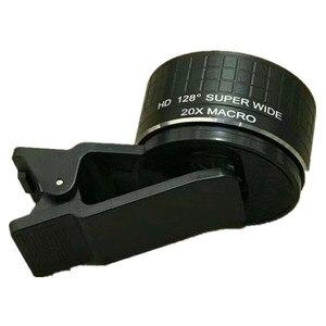 Image 5 - 2 ใน 1 กล้องเลนส์มาโคร 20X Macro เลนส์กล้องโทรศัพท์มือถือ HD 128 องศาเลนส์สำหรับ iPhone X 8 7 Plus