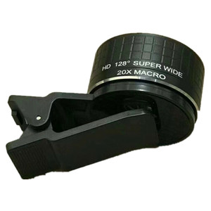 Image 5 - Lente Macro de doble cámara 2 en 1, lente Macro de 20X para cámara de teléfono móvil y lente gran angular HD de 128 grados para iPhone 7 Plus X 8