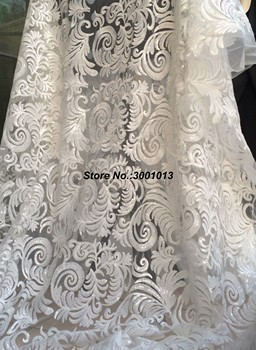 African Lace Fabric 2018 Women Fashion Beautiful White High Quality net lace Embroidery French Tulle Lace For Wedding L123C