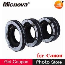 Liga de alumínio De Metal 10mm 16mm 21mm Tubo de Extensão Set para Canon M3 M5 M6 M10 M100 EOS Mirrorless Foco Automático da Exposição TTL lente