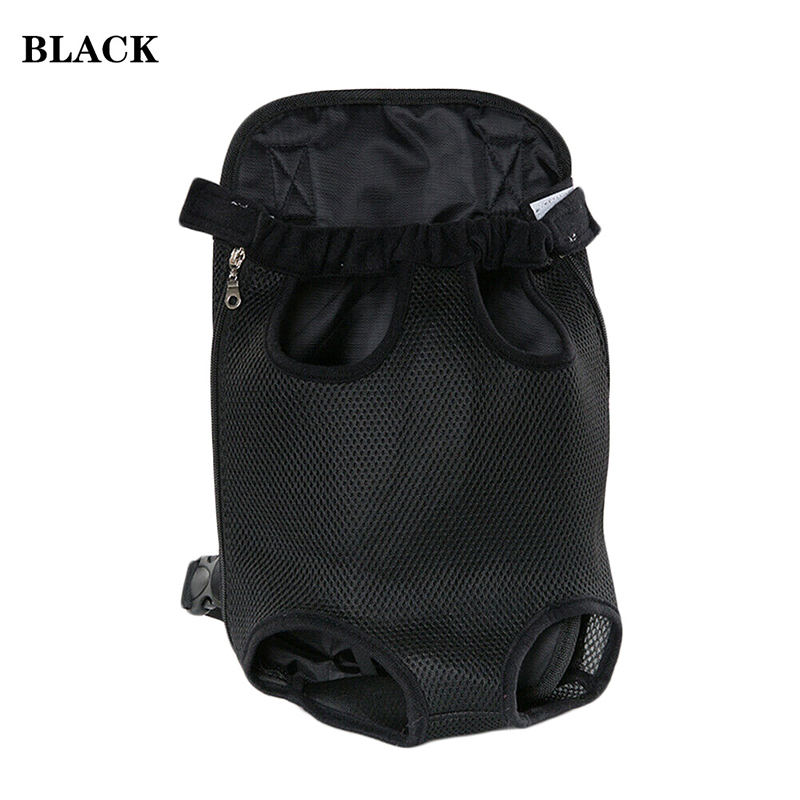Pet Carrier Dog Front Chest Backpack Five Holes Backpack Dog Outdoor Carrier Tote Bag Sling Holder Mesh Cat Puppy Dog Carrier 2