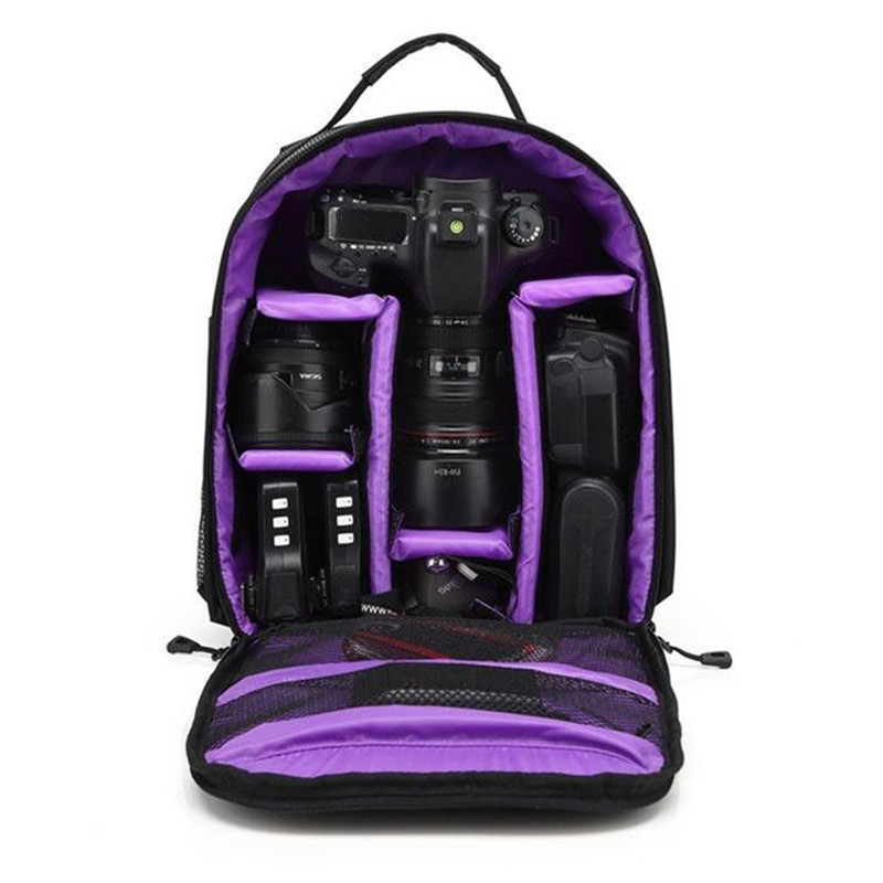 Waterproof DSLR Backpack Video Digital DSLR Camera Bag Multi-functional Outdoor Camera Photo Bag Case for Nikon Canon DSLR Lens (10)