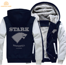 Game of Thrones House Stark Of Winterfell Sweatshirts Hoodies Men 2019 Hot Sale Spring Winter Warm Thick Hooded Fashion Jackets