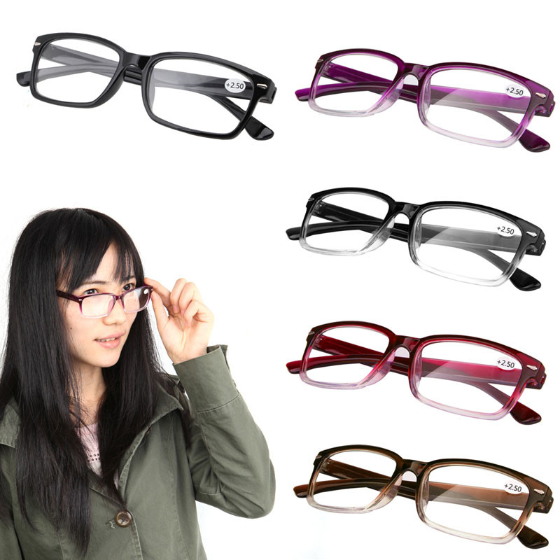 Iboode Vintage Reading Glass Super Light Weight Unisex Read Glasses Gradient Frame Presbyopic +100 +150 +200 +250 +300 +350 +400