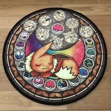 Коврик для пола с изображением животных Покемон, круглый мягкий ковер, нескользящий коврик для спальни