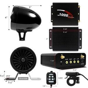 Image 3 - Aileap 1000W amplifikatör Bluetooth motosiklet Stereo 4 hoparlörler MP3 ses FM radyo sistemi için motosiklet/ATV/UTV /tekne (siyah)