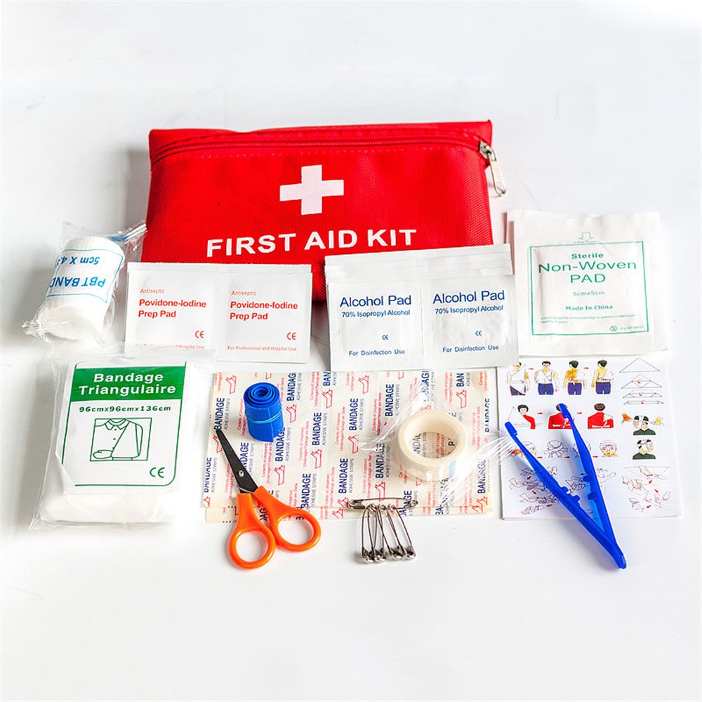 12 Pieces Set Of Portable First Aid Kit Waterproof EVA Emergency Medical Kit Family Outdoor Travel Survival Car First Aid Kit