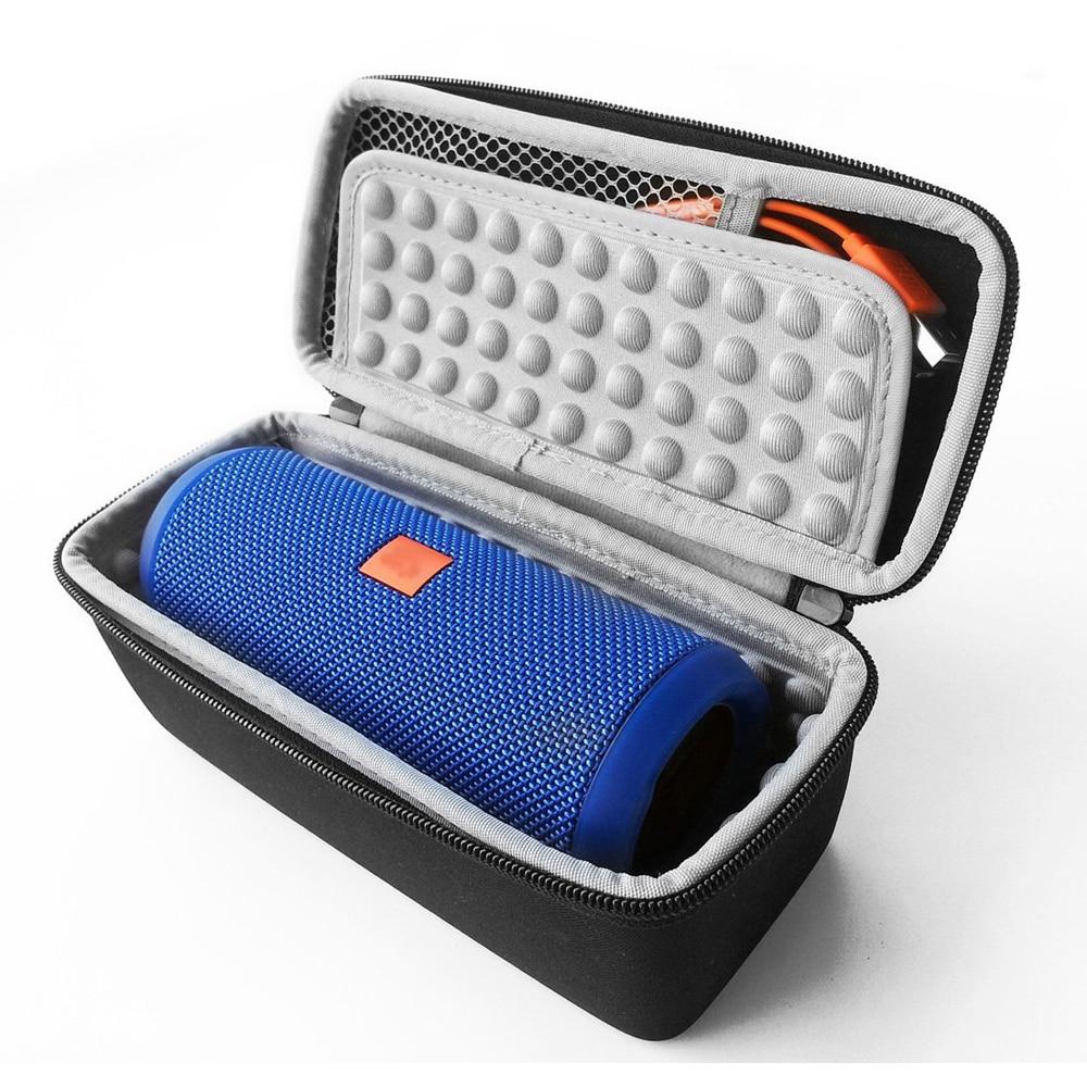 Hardshell EVA Storage Carrying Travel Case Bag for JBL Flip 1 / 2 / 3 / 4 Splashproof Portable Bluetooth Speaker (Black) drone helipad