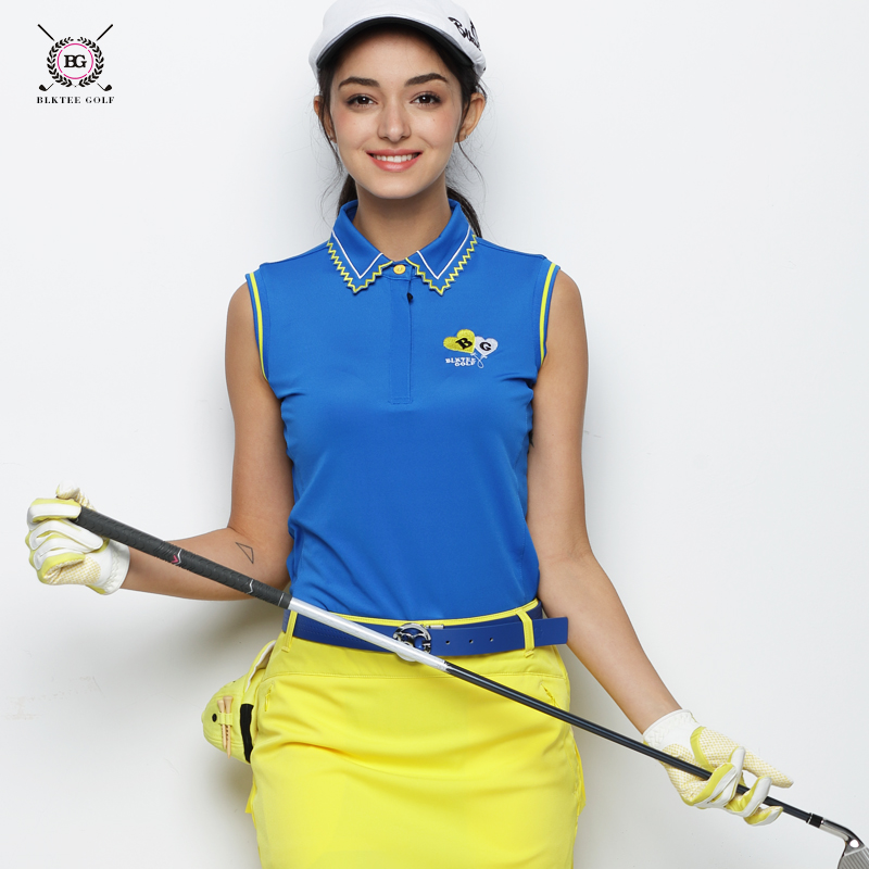все цены на 2018 Hot Sale BG Golf polo shirt women Anti-Wrinkle T-shirt Ladies Summer Korean Version Anti-Pilling Golf POLO Shirts 2 Color