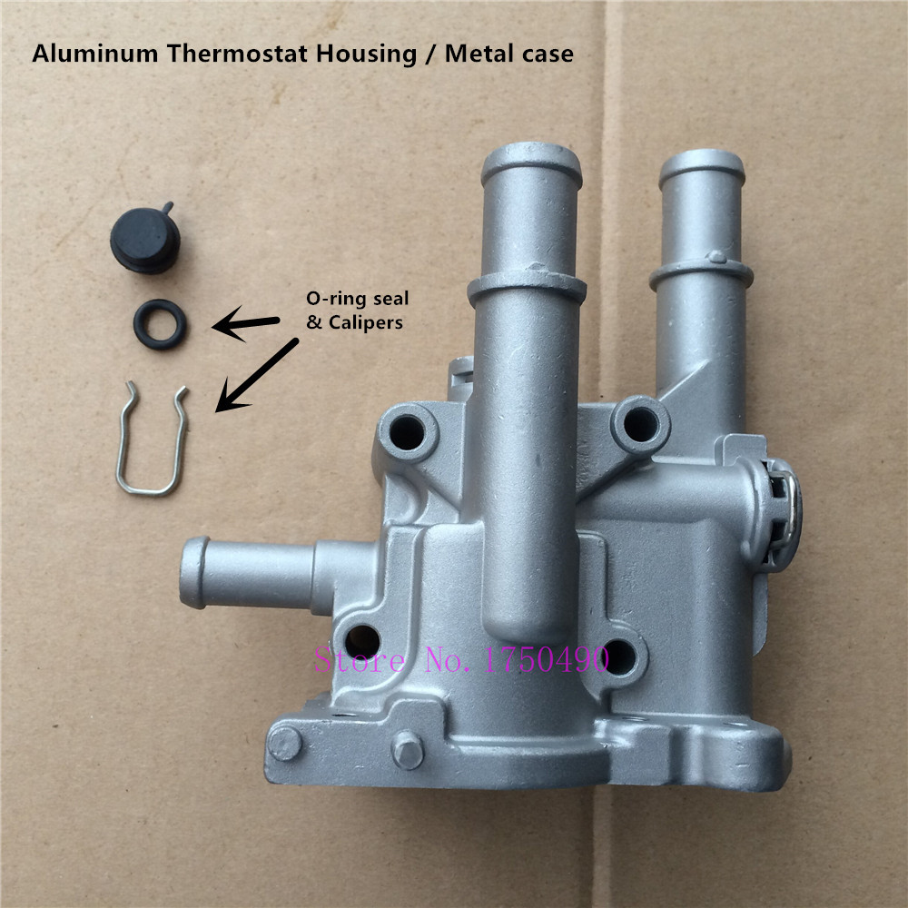 Prix pour En aluminium Couvercle Du Thermostat/Boîtier Métallique cas pour Chevrolet Cruze Epica Hideo Astra Zafira Signum Vectra 96817255; 96984103