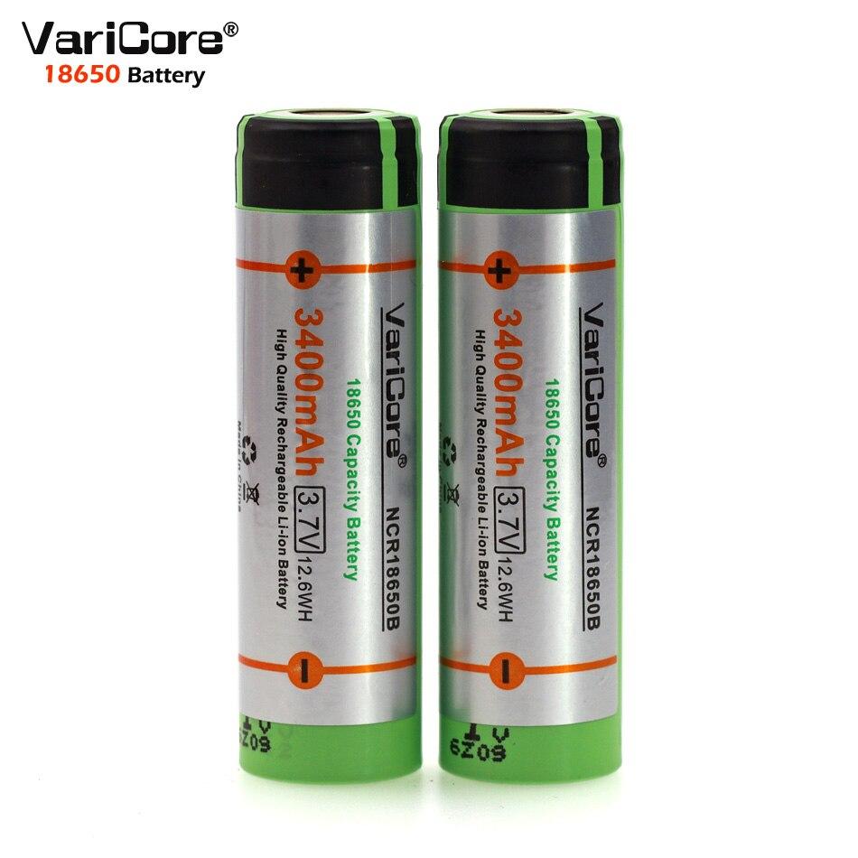Galleria fotografica 2 PCS VariCore Nouvelle D'origine 18650 rechargeable batterie 3.7 V Li ion bateria 18650 pour <font><b>panasonic</b></font> ncr18650b 18650 batterie