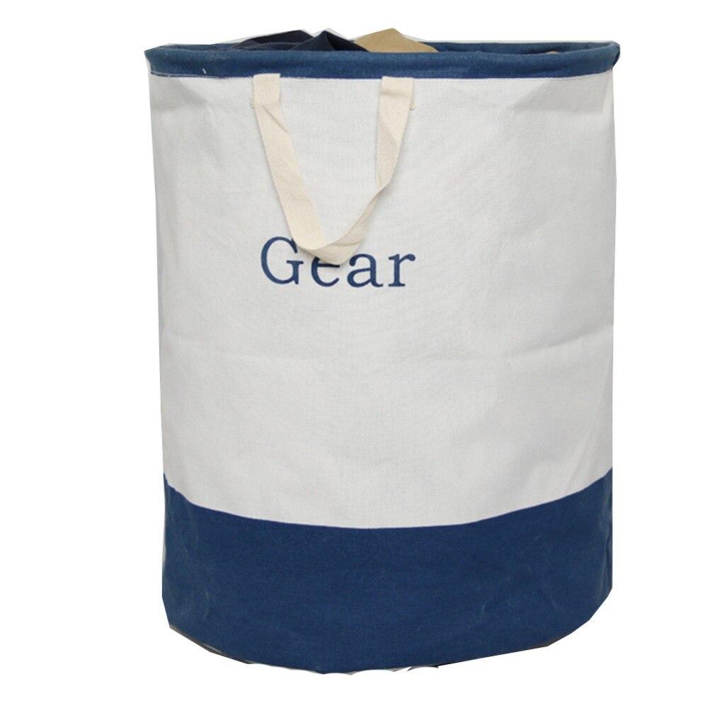 2017 NEW Cotton-Hemp Large Folding Laundry Basket Cartoon Barrel Waterproof Laundry Bags & Baskets Laundry barrel Laundry tape