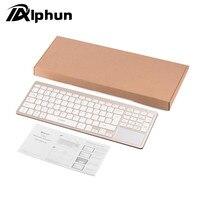 Alphun Draadloze Bluetooth 3.0 toetsenbord voor Tablet Laptop Smartphone Ondersteuning iOS Windows Android Systeem gold HOT KOOP