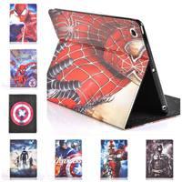 For Ipad Air 5 Case Spider Man Superman Captain America The Avengers Iron Man Batman Folding