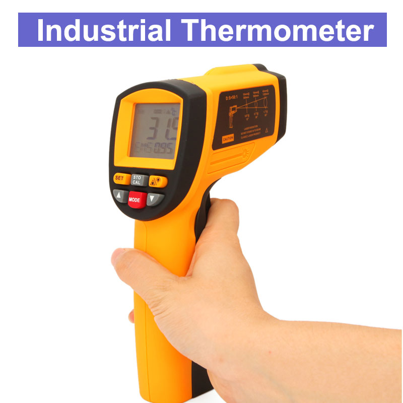 GM1350 Laser Infrared Thermometer Temperature Measuring Gun Multi-function Industrial Thermometer - 18 to 1350 degree отсутствует цветы