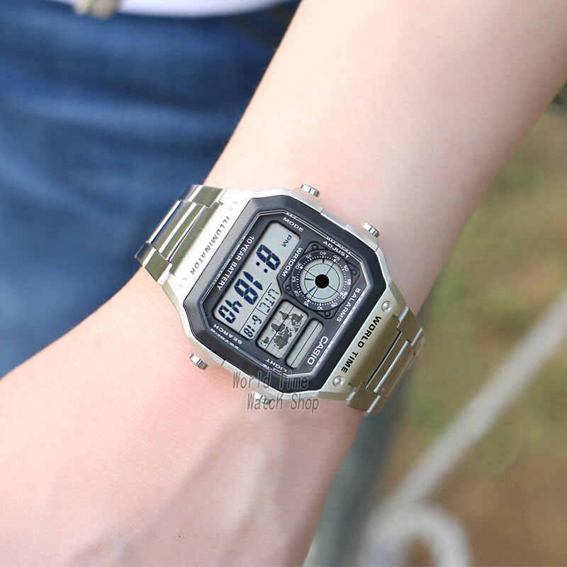 Reloj Casio Reloj de explosión Hombres de la mejor marca LED de lujo militar Reloj digital Reloj deportivo Reloj de cuarzo Reloj impermeable Hombres relogio masculino erkek kol saati montre homme zegarek meski AE-1200W
