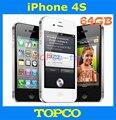 """Завода разблокирована iPhone 4S оригинал 64 ГБ мобильный телефон GSM , WIFI , GPS 3.5 """" 8MP черный и белый inse aled коробка прямая поставка"""
