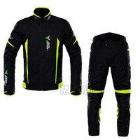 New Detachable Waterproof Motorcycle Racing Suit Protective Gear Armor Motorcycle Jacket+Pants Hip Protector Moto Clothing Set