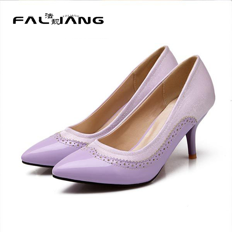 ФОТО 2017 summer fashion pointed toe hollow high heels solid color high heels breathable and comfortable women shoes D1757