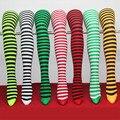 Mulheres Rua Moda Listras Da Zebra Meia-calça de Seda Leite 70D Zebra Calças Justas Legwear
