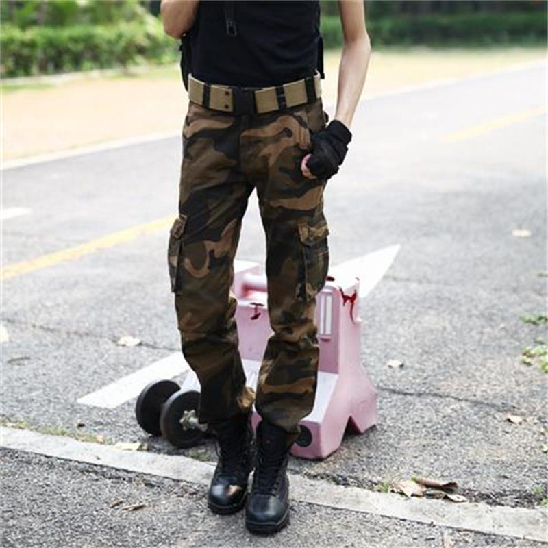 2018 new Brand man Military Army Camouflage Cargo Pants Plus Size Multi-pocket Overalls Casual Baggy Camouflage Trousers Men