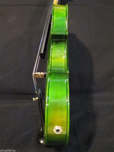 Green Acoustic & Electric Violin 4