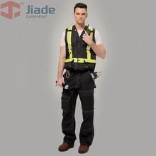 Jiade Men's Flame Resistant Vest  Men's reflective Vest Men Work Vest