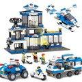 Centro de Mando de La Policía SWAT Sluban City Series Construcción 3D Building Blocks Ladrillos Compatible Con Legoe Helicópteros