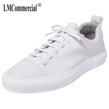 white mens casual shoes Genuine Leather men natural leather loafers cowhide breathable sneaker fashion Leisure male