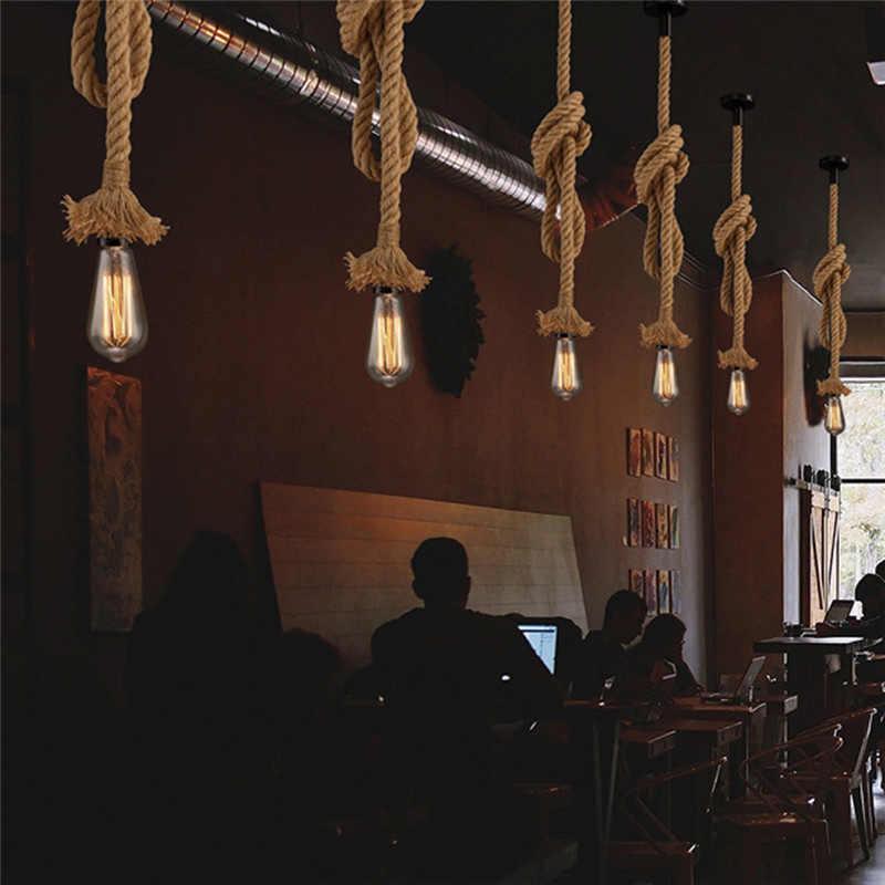 LAIDEYI 1 м Винтаж веревки подвесные светильники Лофт Творческий промышленный светильник E27 Эдисон лампы Американский Стиль для ресторана украшения