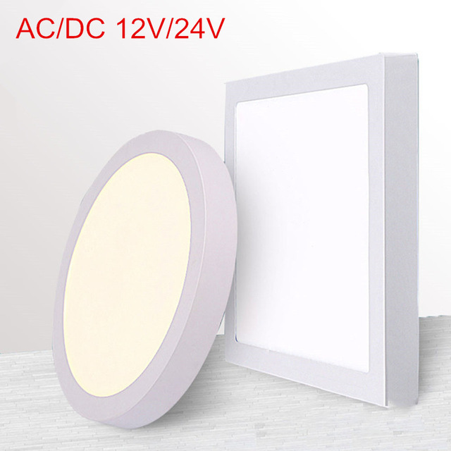 AC/DC <font><b>12V</b></font>/24V 9W/15W/25W/30W Round/Square <font><b>Led</b></font> Panel Light Surface Mounted <font><b>Led</b></font> ceiling <font><b>Downlight</b></font> Indoor lighting image