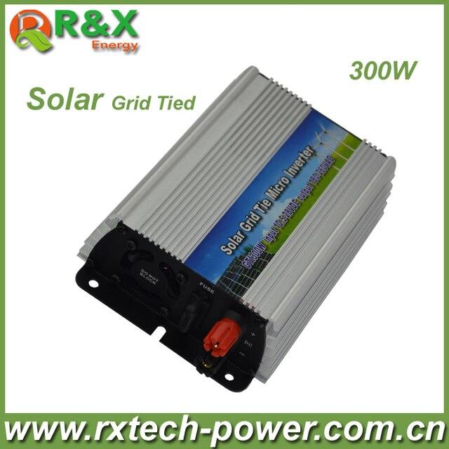 Grid-Tie 300W Pure Sine Wave Inverter DC10.5V~28V, AC 180-260V, 45Hz-53Hz/55Hz~63Hz, for Solar Input Power 400W, good quality