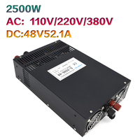 2500W48V52.1A high power S 2500 48 switching power supply 48V2500W engraving machine DC motor power supply