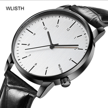 WLISTH часы мужские new mens quartz watches top luxury brand leather waterproof sports