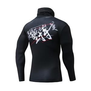 Image 5 - ZRCE Fashion męskie koszulki sportowe siłownia kompresja Skinny T shirt męskie trening Jogging kulturystyka odzież sportowa Top